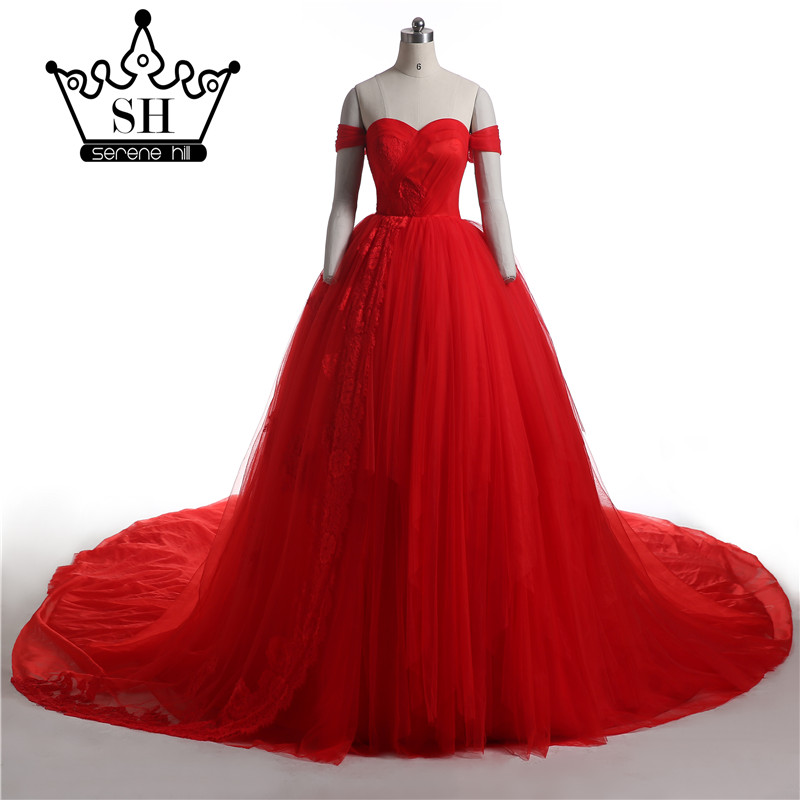 Kleid royal rot kathedrale zug Ballkleid brautkleid 2018 Neue ...
