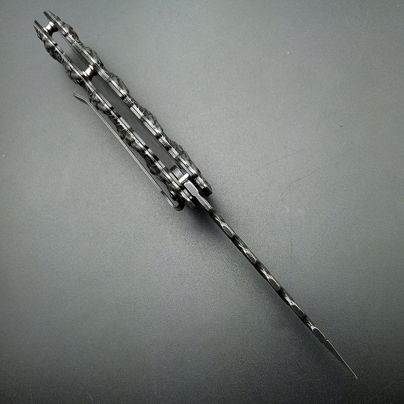 Coltello pieghevole a catena Stonewash Coltelli a lama tattica - Utensili manuali - Fotografia 6