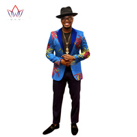 2019 African Jacket For Men African Long Sleeve Top Mens African Clothing Dashiki African Print Blazer Men Outfits WYN202