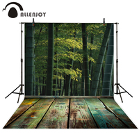 Allenjoy Photography Background Spring Wood Floor Bamboo Nature Green Funds For Newborn Photography Studio Vinyl Professional