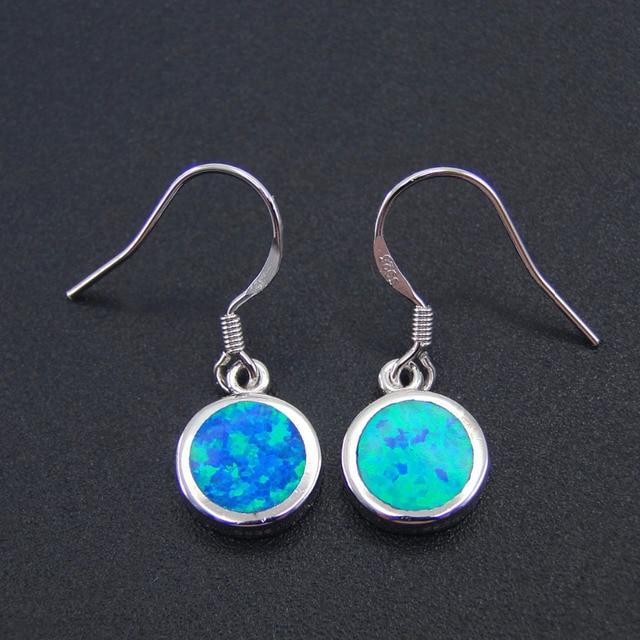 1dd094fbf 100% 925 Sterling Silver Jewelry Fine Blue Opal Earrings Drop Earring for  Women Jewelry Simple Style Jewelry Factory Wholesale