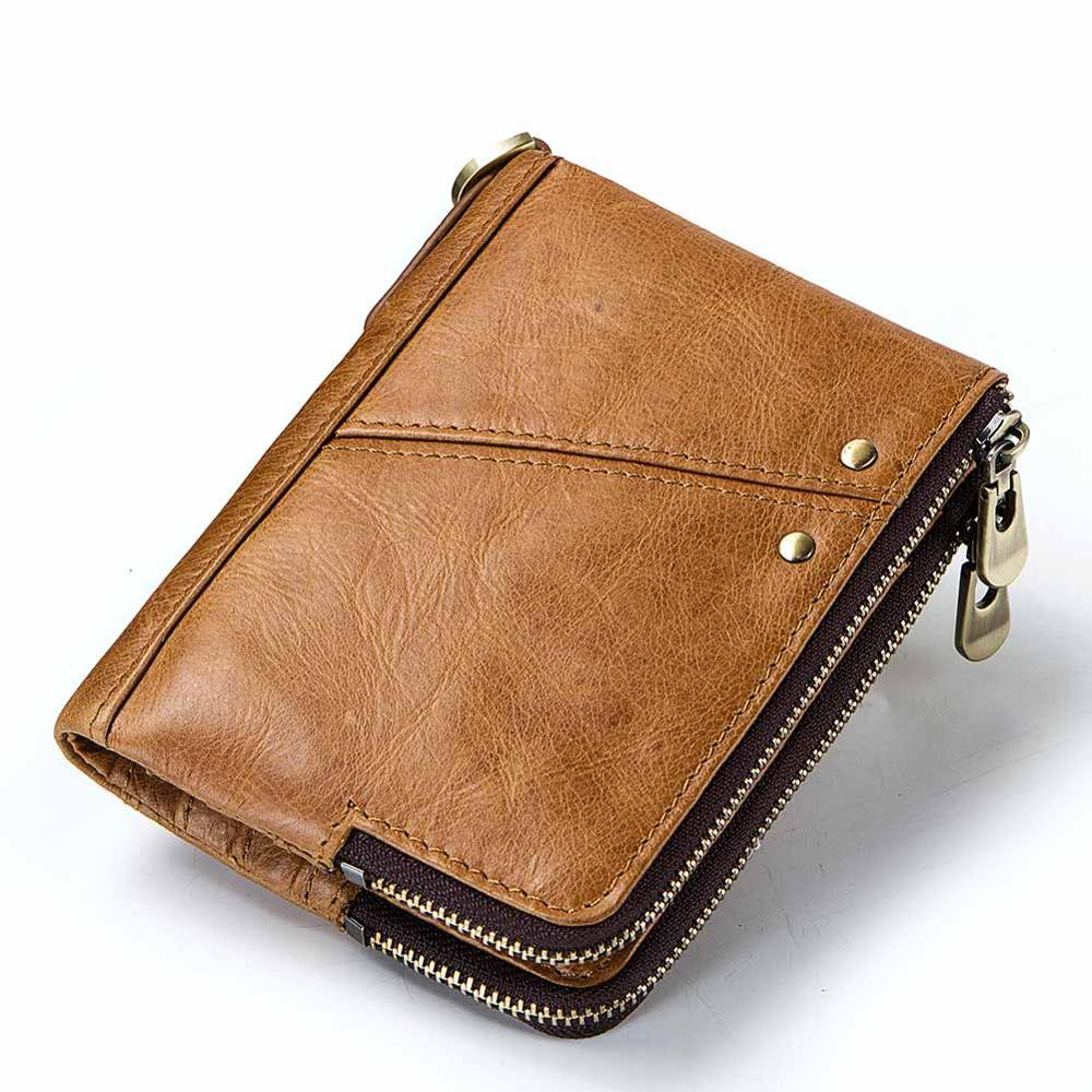 Men Wallet Purses Card-Bag Clutch Money-Clip Credit-Card Slim Handy Genuine-Leather Cuzdan