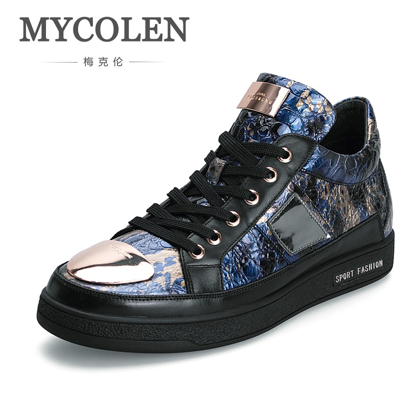 MYCOLEN 2018 New Autumn Winter British Retro Men Shoes Breathable Sneaker Fashion Handmade Men Casual Shoes Calzado-Hombre pathfinder men s vulcanize shoes men leather high style casual retro comfortable flat shoes breathable male calzado hombre