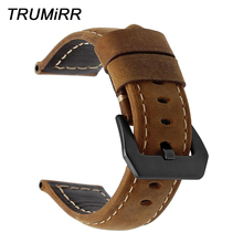 Włoski pasek do zegarka z prawdziwej skóry + narzędzie do Suunto 9/Ambit 3 pionowy/Spartan Sport HR Handmade pasek do zegarka bransoletka z paskiem