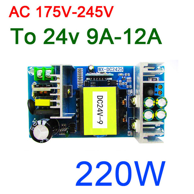 AC DC Inverter Converter AC 220V 240V to 24V DC 9A   12A MAX 250W isolation Industrial Switching Power Supply Module