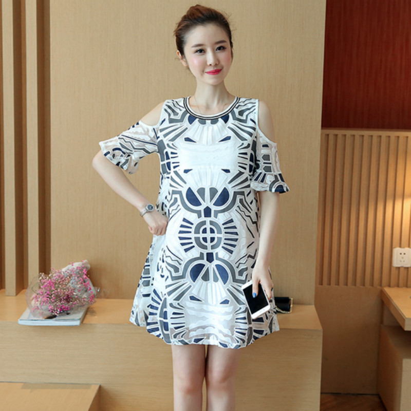 2017 New summer new maternity dress Fashion lace flower pattern pregnant women dress Go out breastfeeding woman feeding dresses