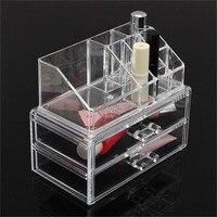 Prática de várias camadas de Acrílico Transparente Display Stand Titular Caixa de Armazenamento De Cosméticos de Maquiagem Make Up Batom Recipiente Casa