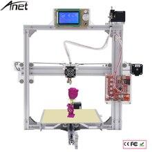 Анет 3D принтер алюминия большой Размеры Prusa i3 3D комплект принтера DIY трехмерной печати с очаг + 2004 ЖК-дисплей Экран + нити