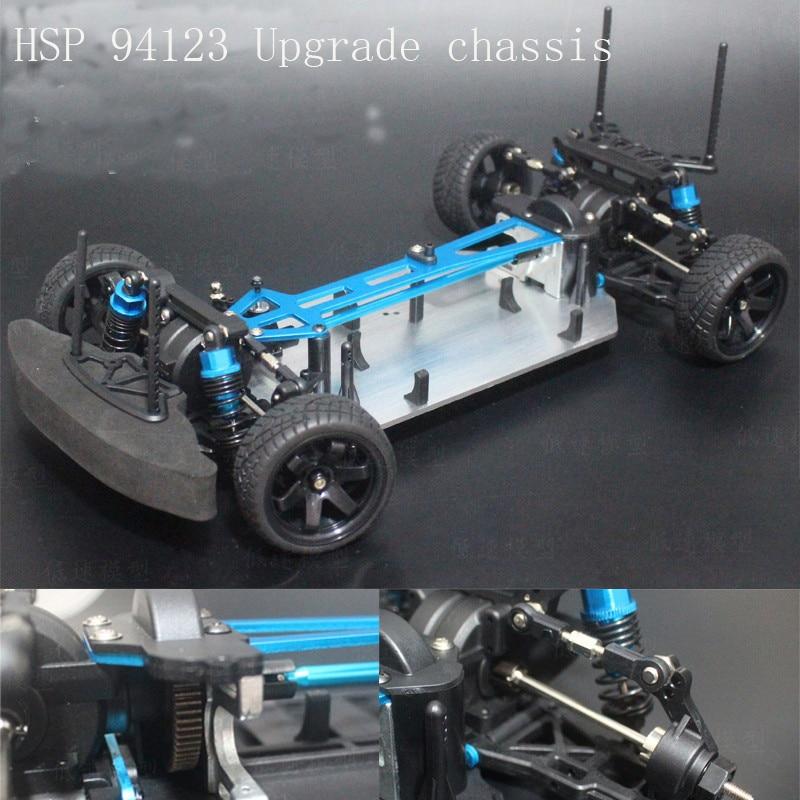 1/10 RC Crawler Chassis For HSP Infinity 94123 Model Racing Drift Car 1:10  Upgrade Brusheless Bottom Base Frame Kit