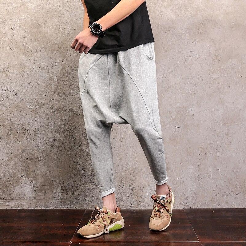 YSGJ hip hop style harem pants loose cross-pants men elastic waist trousers men joggers pantalon homme men clothes 2018 XXK13