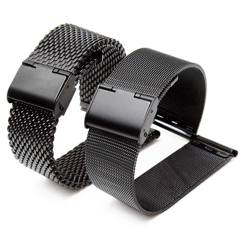 8 10 12 14 16mm 18mm 20mm 22mm 24mm Black Silver Gold Rose Gold ultra-thin Stainless Steel milan Mesh Strap Bracelets Watch Band opk punk cross bracelet for men length 16 5 21 cm mesh strap band stainless steel black gold color male wrap bracelets gh878