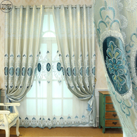 Curtain Luxury Rideaux Pour le salon Blackout Cortinas Jacquard Window Screening Living Room Curtains for Bedroom