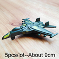 5pcs/lot Mini Airplane Model Action Military Toy plane World War II German Military Scene Ornament World of toy for kid Gift/9cm