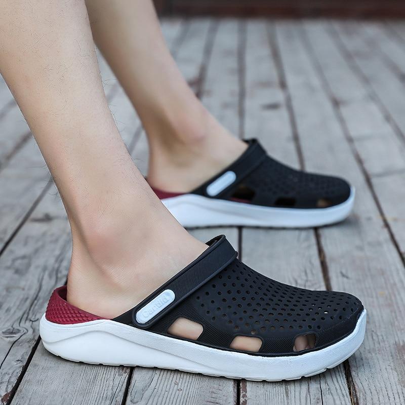 Asli Baru Taman Sandal Air Sepatu Pria Pasangan Datar Musim Panas Pantai  Aqua Sandal Outdoor Sandal 27f52ffbdc96