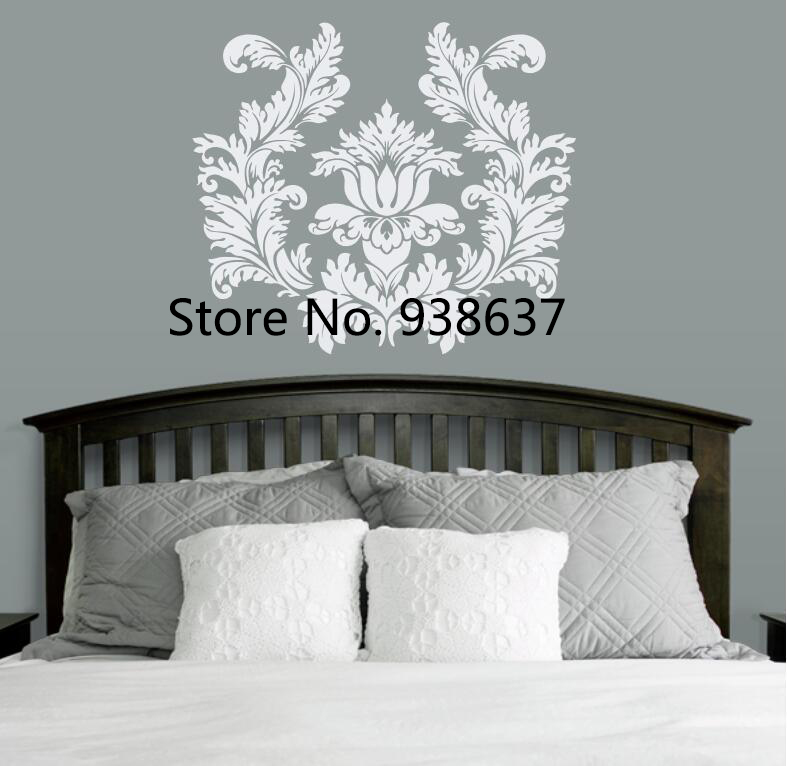 Damask Art interior Home Decor Bedroom Wall Stickers ...
