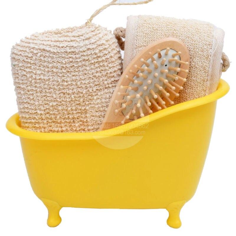 nuovo arrivo leeco negozio di articoli da bagno set bagno di spugna pettine accessori per il