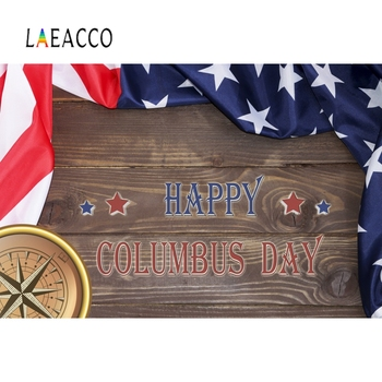 Laeacco Happy Columbus Day Background Wall Photography Baby Ceremony Portrait Scene Vinyl For Photographic Backdrop Photo Studio