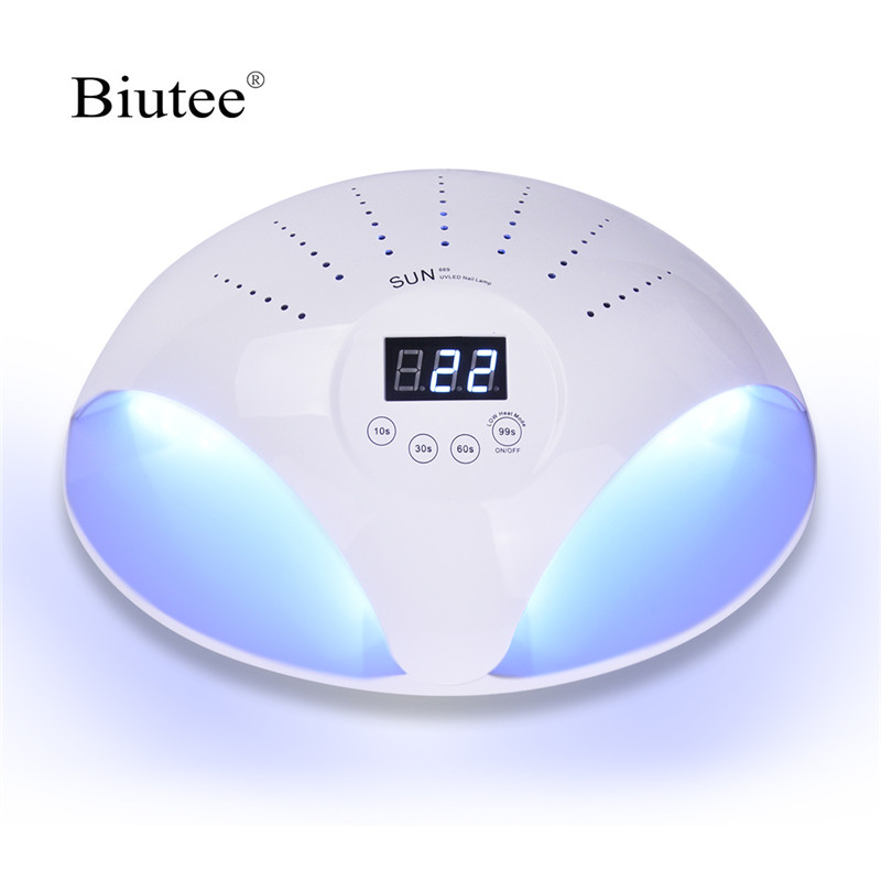 Biutee 48W Nail Lamp UV Lamps 24 LED ice Nail Dryer Gel Polish Curing Machine All For Manicure 2 Two Hands Nails Art DIY 100pc fashion black coffin nail flat top stiletto nails diy nail art full cover false nails diy wholesale manicure products e25b