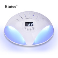 Biutee 48W Nail Lamp UV Lamps 24 LED ice Nail Dryer Gel Polish Curing Machine All For Manicure 2 Two Hands Nails Art DIY