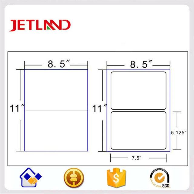 2 up Address Shippping label for Laserjet inkjet printer matt bond