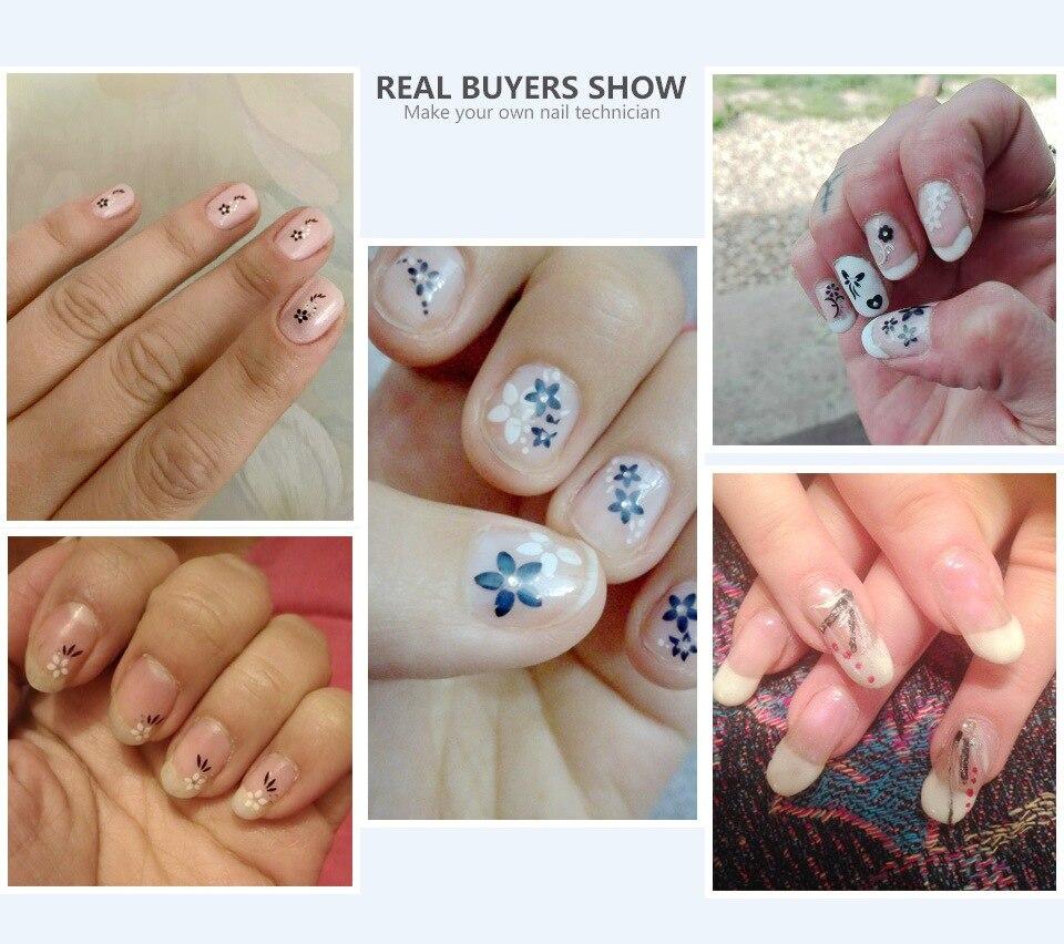 Blueness 3D Silber Nail art Aufkleber Schönheit Sommer 24 Design ...