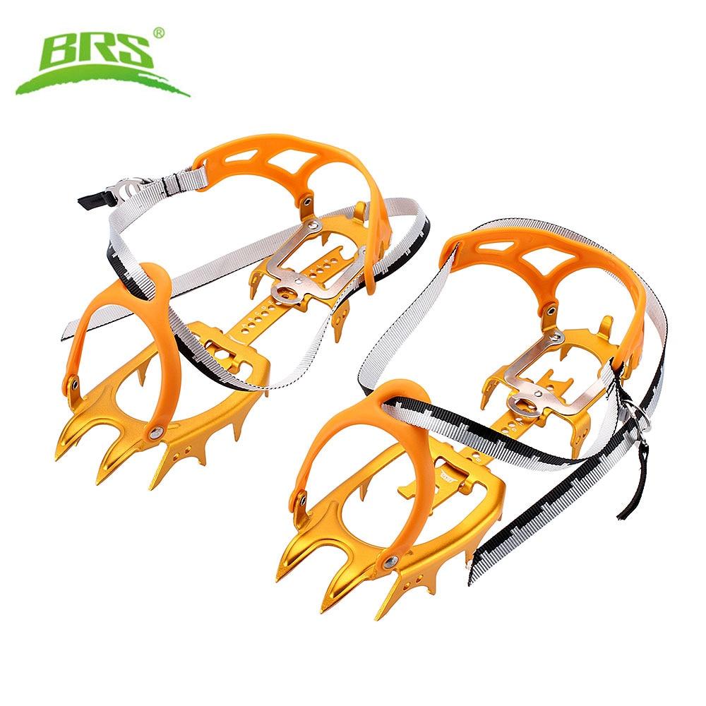 BRS-S3 Ultralight 14 Teeth Aluminium Alloy Bundled Crampons Ice Gripper Outdoor Ice Climbing kits Crampons for Footwear цена 2017
