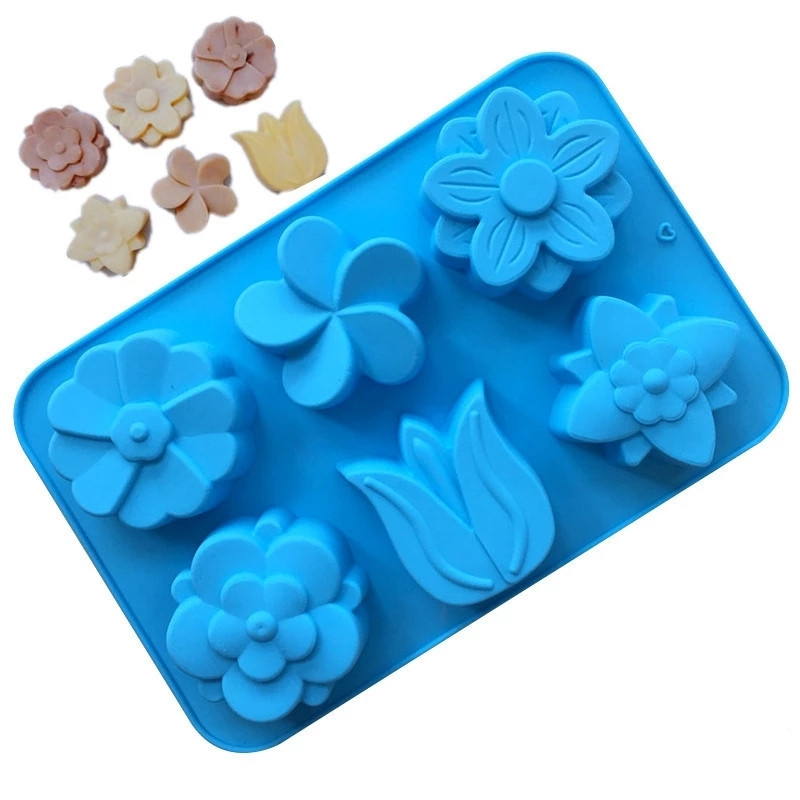 3D Tulip Flower Silicone Soap Mold DIY Cake Decorating Tools Chocolate Fondant Confeitaria Mold Baking Accessories Free Shipping