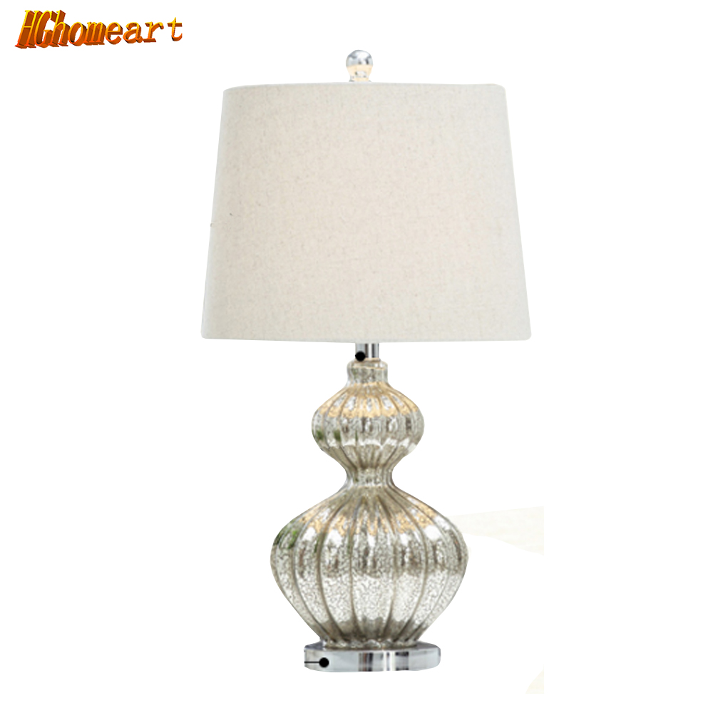Lucky Gourd bedroom modern creative bedside lamp crystal lamp table lamp simple European American living room
