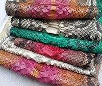 1pcs Colorful genuins Sn ake Leather for bag Belt Purse handwork diy