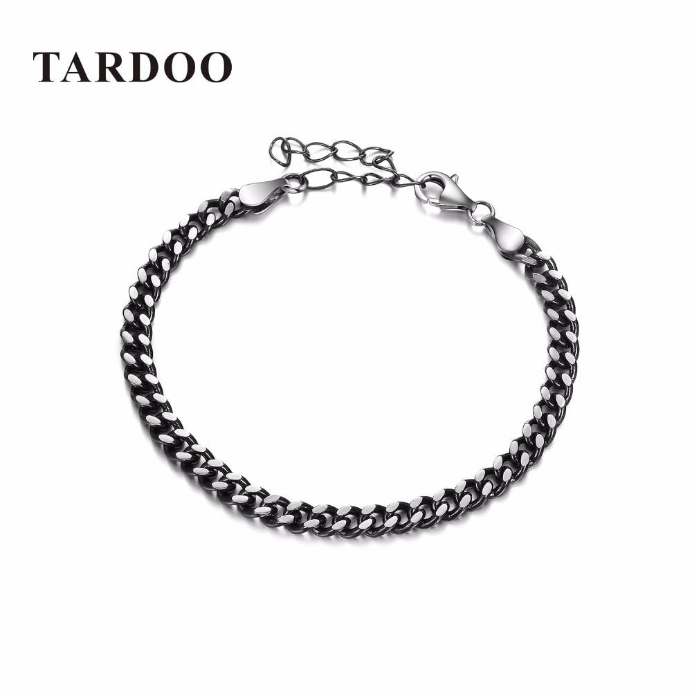 Tardoo True 925 Sterling Silver Chain & Link Bracelets & Bangles for Women Fashion Minimalist Punk Style Bracelets Fine Jewelry punk link chain mens womens bracelets chains fashion jewelry charm bracelets wristband bracelets