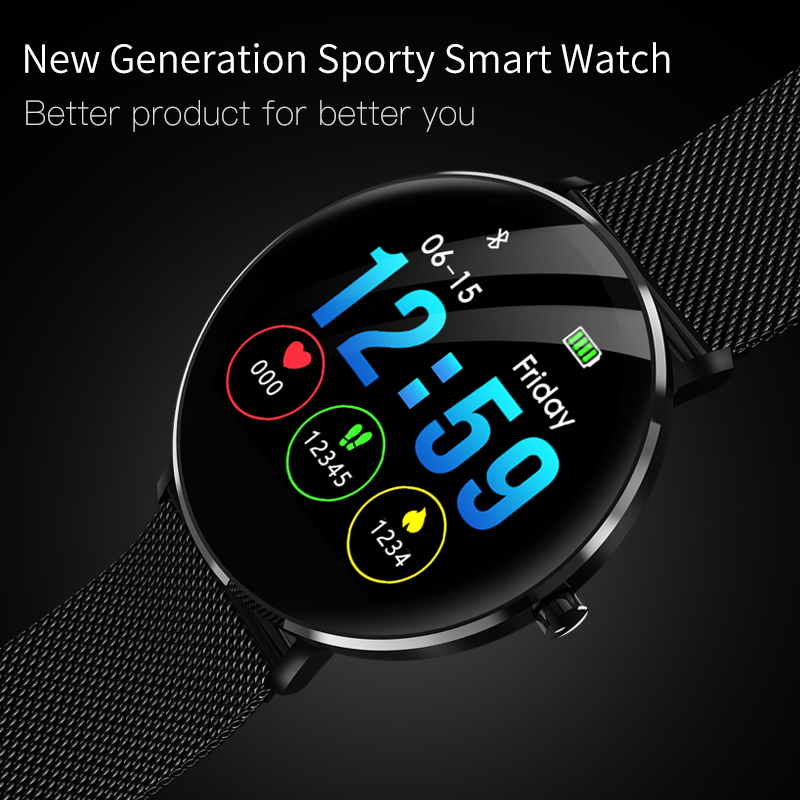 Fitness Tracker Smartwatch L6 IP68 Waterproof BRIM Blood-Pressure-Heart-Rate-Monitor