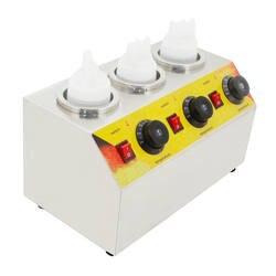 SUCREXU коммерческий Электрический тройной бутылки для соуса грелка горячего сыра шоколада 3 бутылки аппарат для разогрева воска диспенсер