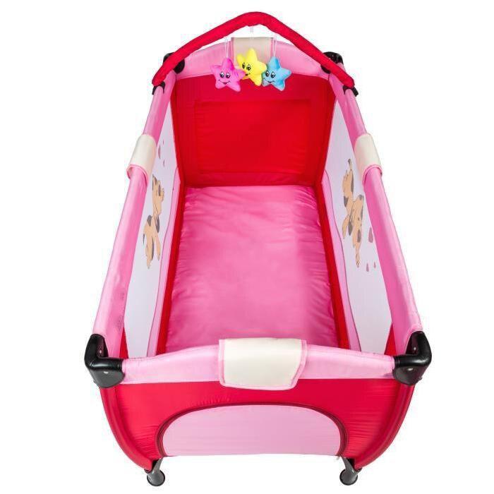 Lit bébé pliant multifonctionnel Portable lit bébé avec couches Table à langer voyage enfant jeux lits pour berceau bébé HWC - 5