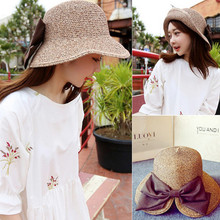 Hot New Fashion Summer Casual Women Ladies Hat Wide Brim Beach Bowknot Sun Hat Elegant Straw Floppy Cap For Women Dating Hats