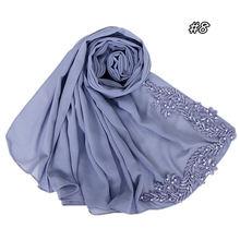 70*180 см мусульманский пузырьковый шифоновый хиджаб шарф Малайзийский