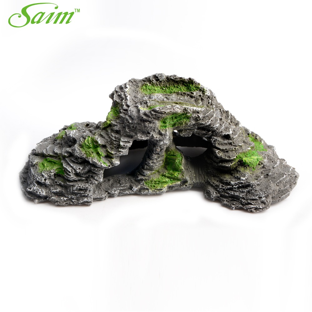 12 fish tank aquarium cave shape decoration stones for Aquarium cave decoration