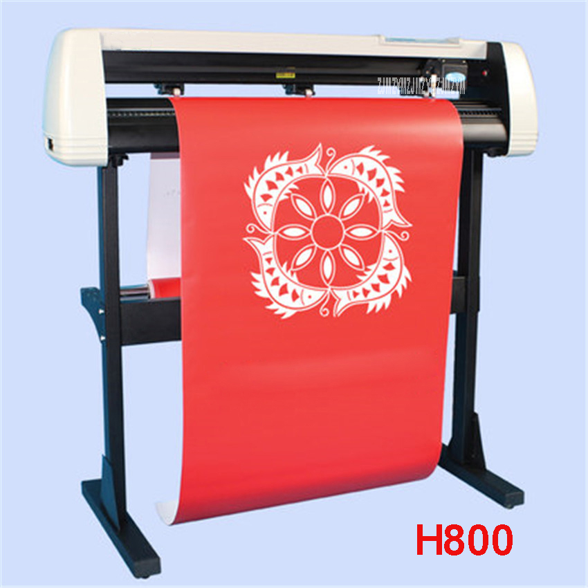 H800 Cutting Plotter With Stand Garment /Silhouette Reflective Media Cuttter Machine 100W Auto-contour 780mm / S 110V/220V