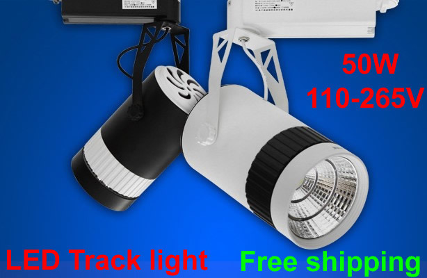 5pcs LED track light 50W cob 110-265V,Modern track light,Led rail,Track spot light,Clothes light,Epistar chip,Warranty 2 years