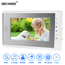 Wired Color Video Intercom Bell 7 inch TFT indoor Unit Monitor Screen Video Doorbell Home Door Phone for Entry Access System OBO