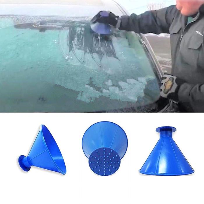 HTB1CWBzX5YrK1Rjy0Fdq6ACvVXa2 - 2 In 1 Oil Funnel Remover Magic Shovel Cone Shaped Outdoor Winter Car Tool Snow Windshield Funnel Ice Scraper Car Accessories