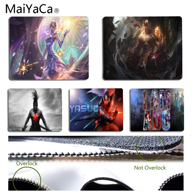 MaiYaCa Vintage Cool Customized forJin x players DIY Design Pattern Game mousepad Size for 18x22cm Rubber Rectangle Mousemats