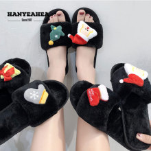 New Arrival Womens Summer Shoes Casual Fashion Fluffy Slippers Soft Fashionable