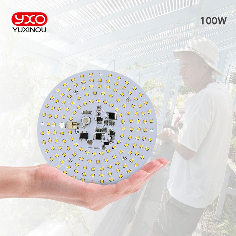 Driverless 100W AC Led Grow Light LED Lamp Full Spectrum Samsung LM301B 3000K 660nm DIY LED Plant Grow Light For Veg/Bloom