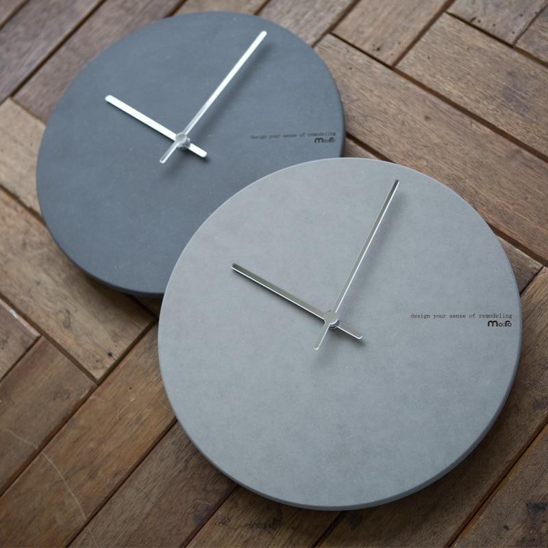 Minimalist Wall Clock Modern Design Living Room Decoration Acrylic Clocks Wooden Wall Watch Home Decor Silent 12 inch