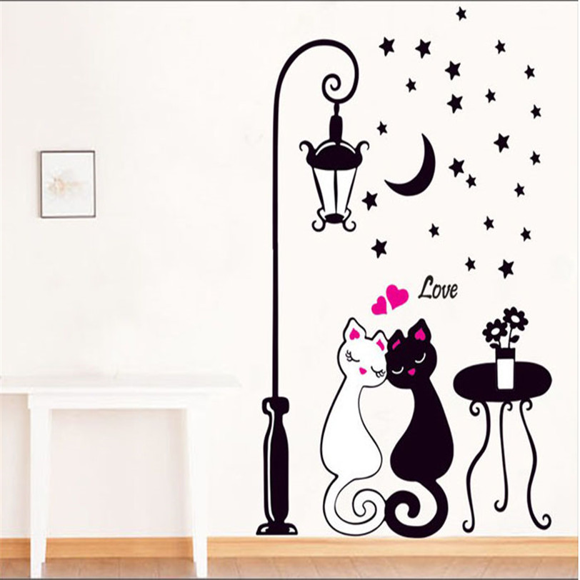 Creative Cat Lovers Wall Art Decal Sticker Removable Mural