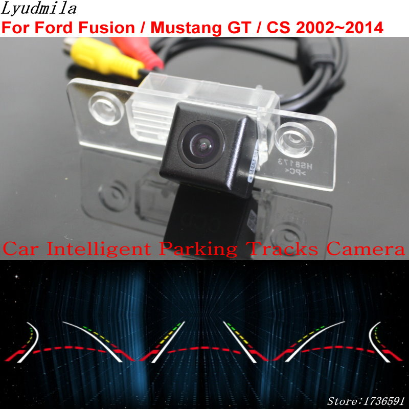 Lyudmila Car Intelligent Parking Tracks Camera FOR Ford Fusion / Mustang GT / CS 2002~2014 / Back up Reverse Rear View Camera lyudmila car intelligent parking tracks camera for hyundai creta ix25 2014 2017 hd back up reverse car rear view camera