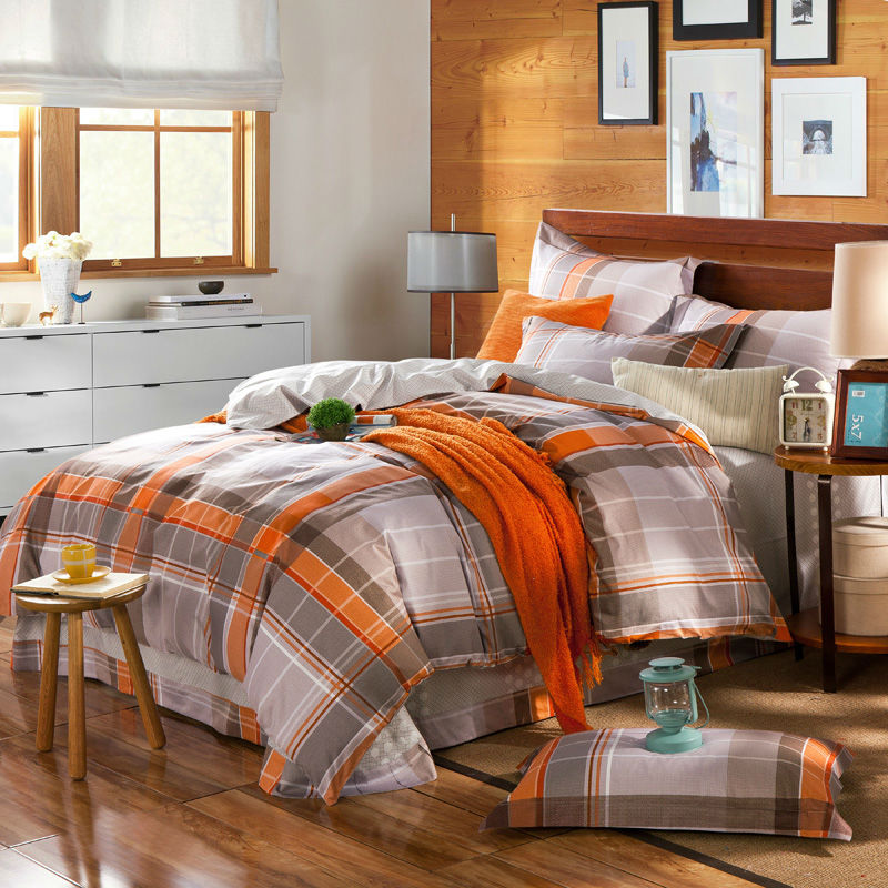 Gray Orange Bedding Promotion Shop For Promotional Gray Orange Bedding On Ali