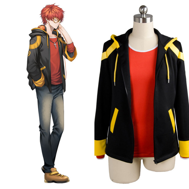 Game Mystic Messenger 707 Cosplay Costumes Coat and T shirt For Men Women  Hoodies   Sweatshirts Outfits Halloween Clothing 31df98f6fc