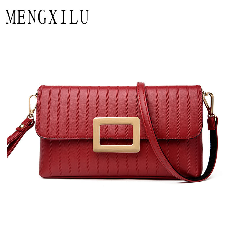 MENGXILU Brand High Quality Women Shoulder Bag Designer PU Leather Crossbody Bags Small Flap Women Handbags New Ladies Clutch hanup new high quality women clutch bag fashion pu leather handbags flap shoulder bag ladies messenger bags crossbody purse