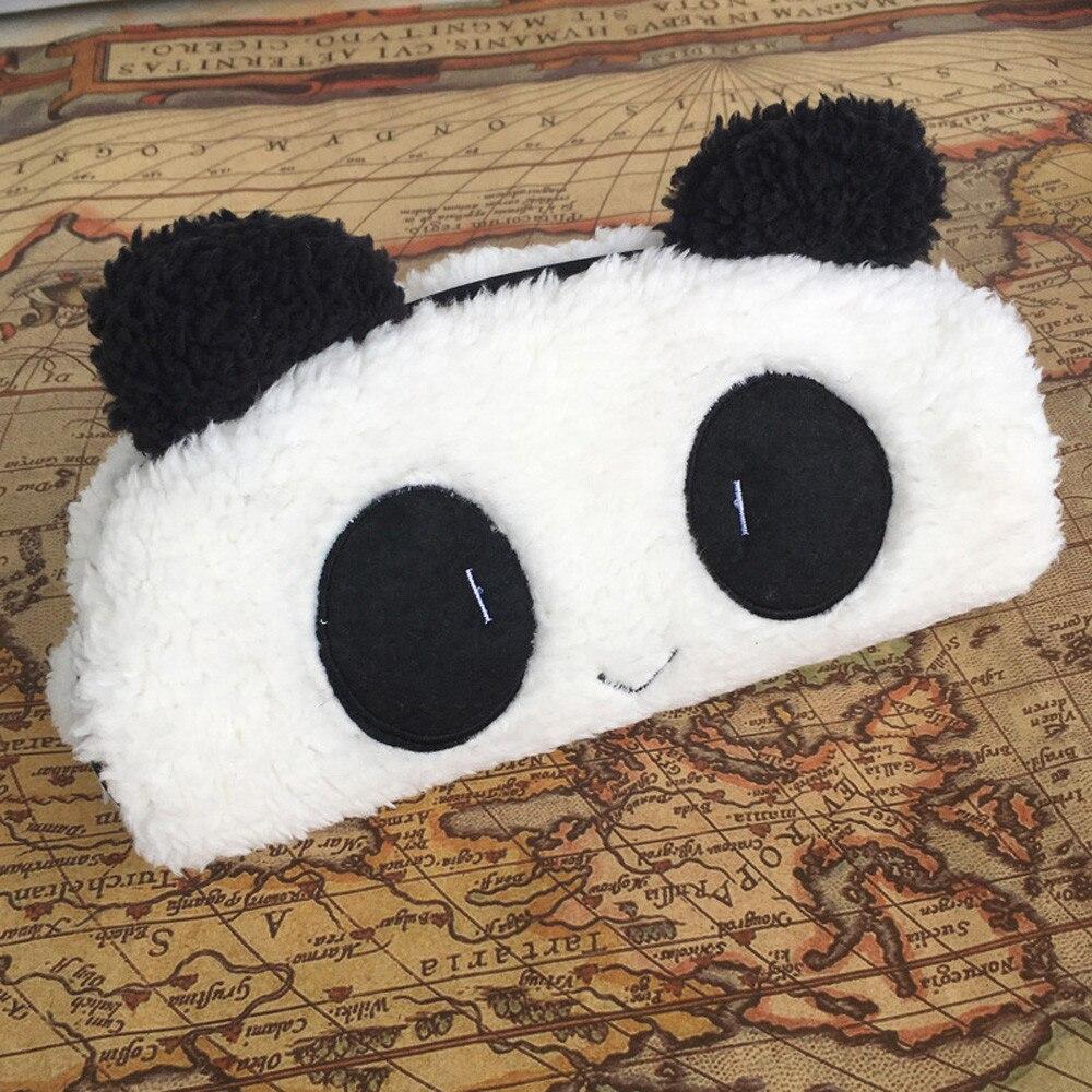 Leuke Kawaii 3D Pluche Panda Etui Schoolbenodigdheden Nieuwtje Voor Kids potlood pen houders voor studenten nieuwe A30